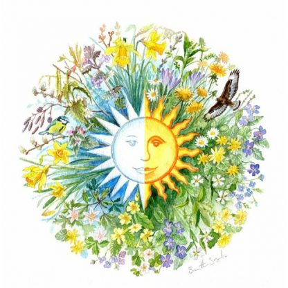 Spring Equinox Roundel Card