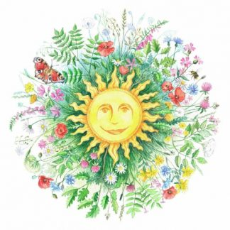 Summer Solstice Roundel Card