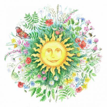 Summer Solstice Roundel Card
