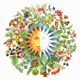 Autumn Equinox Roundel Card