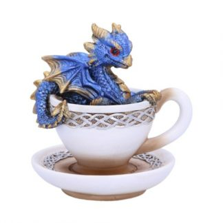 Blue Dracuccino Dragon Figurine