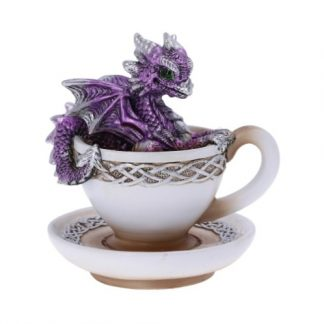 Purple Dracuccino Dragon Figurine