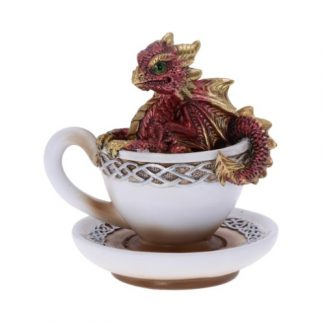 Red Dracuccino Dragon Figurine