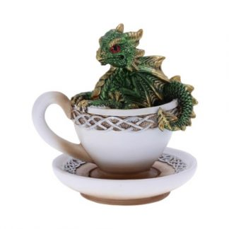 Green Dracuccino Dragon Figurine