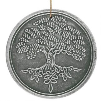Silver Terracotta Tree of Life Plaque