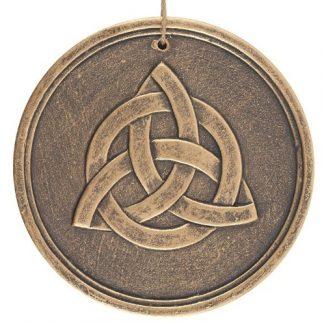 Bronze Terracotta Triquetra Plaque