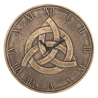 Bronze Terracotta Triquetra Clock