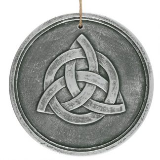 Silver Terracotta Triquetra Plaque