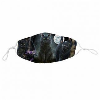 Halloween Black Cats Face Mask
