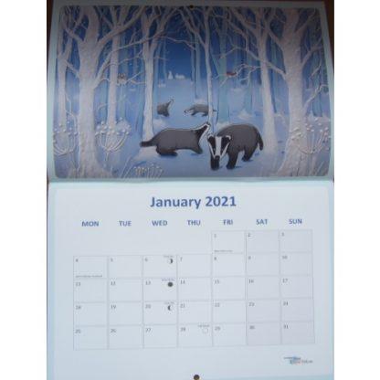 Angie Livingstone Enchanted Seasons Calendar 2021 January
