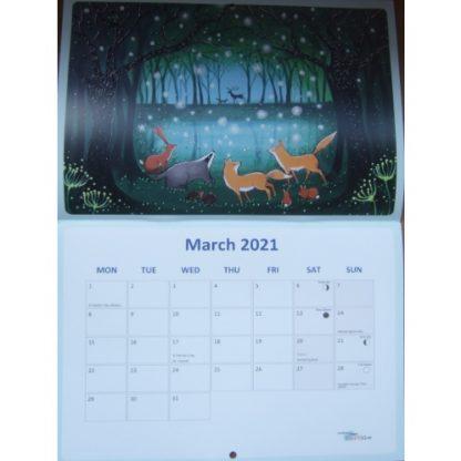 Angie Livingstone Enchanted Seasons Calendar 2021 March