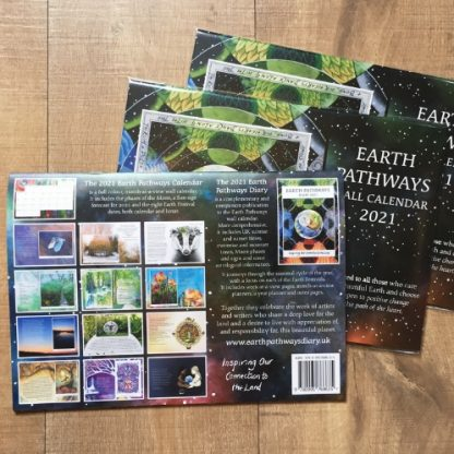 Earth Pathways Calendar 2021 back cover