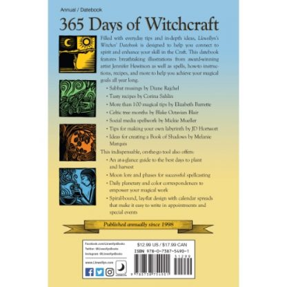 Witches Datebook 2021 back cover