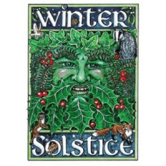 Winter Solstice Green Man Card