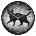 Black Cat Spirit Board Clock